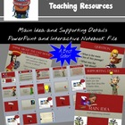 Main Idea and supporting details Interactive PowerPoint Lesson