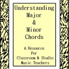 Major and Minor Chords Explained + Worksheets