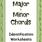 Major and Minor Chords Mix 'n' Match Worksheets