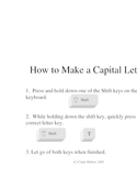 Make a Capital Letter Poster