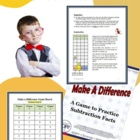 Make A Difference: Math Game to Practice Subtraction Facts
