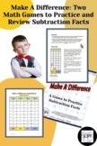 Make A Difference: A Math Game to Practice Subtraction Facts