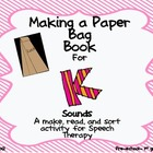 Make A Paper Bag Book for /k/ Sounds Speech Therapy Literacy