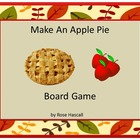 Free Make An Apple Pie Board Game Preschool, Kindergarten,