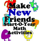 Make New Friends Silly Creature Math Activities for First Graders