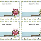 Make Your Own Book Box Labels - Owls