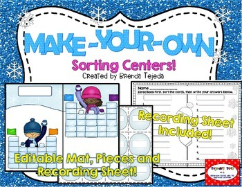 FREE: Make-Your-Own Sorting Center: Editable Mat, Pieces & Recording Sheet
