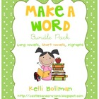 Make a Word! Bundle Pack {Long Vowels, Short Vowels, and C