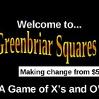 Making Change from $5.00 Squares game