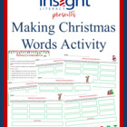 Making Christmas Words, K-4