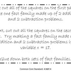 Making Fact Families - Addition & Subtraction - Common Cor