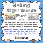 Making Sight Words Fun - Set 3