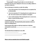Making Text Connections Worksheet- Strategies #1 Worksheet