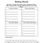 Making Words Freebie