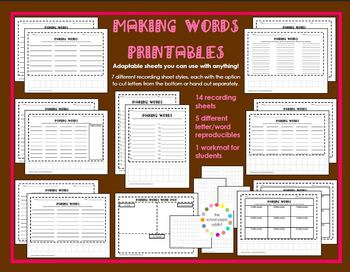 Making Words Printables