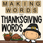 Making Words - Thanksgiving Words