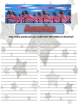 Making Words With America