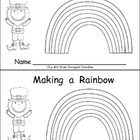 Making a Rainbow Emergent Reader- Kindergarten- St. Patrick's Day
