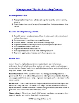 Management Tips for Learning Centers