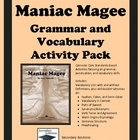 Maniac Magee Grammar and Vocabulary Activity Pack