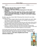 Maniac Magee Novel Packet w/vocabulary and writing prompts