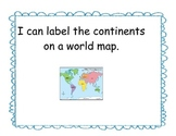 Map Skills I Can Statement Posters