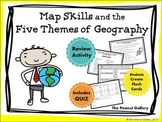 Map Skills and the Five Themes of Geography (Activity and Quiz)