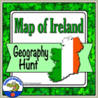 Map of Ireland Geography Activity