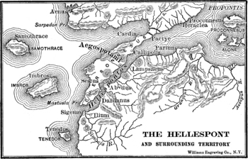 Map of the Ancient Hellespont