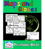 Maps and Globes - A Printable Book for Introducing or Revi