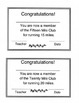 Mileage Lap Cards - Run a Marathon for PE - Fitness Motivator
