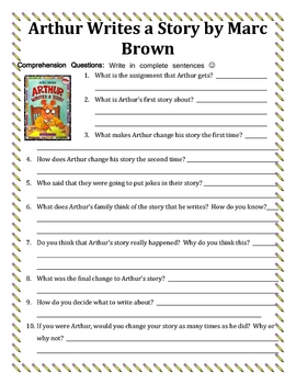 Marc Brown Reading Activities Unit