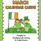 March Calendar Cards - FREEBIE
