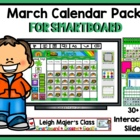 March Calendar Pack 2014 - For SMARTboard - Morning Math A