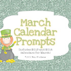 March Calendar Writing Prompts - Calendar Journal Prompts