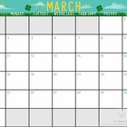 March Calendar for Students or Teachers - 2013