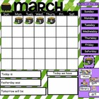 March Interactive SmartBoard Calendar