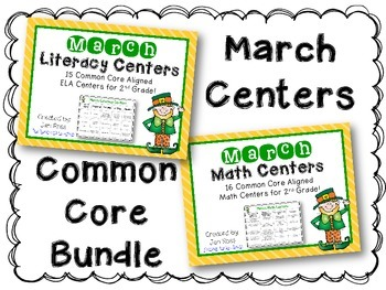 March Literacy & Math Centers Menu BUNDLE {Common Core Aligned}