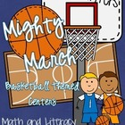 March Madness Basketball Math AND Literacy Centers (14 Centers!)