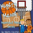 March Madness Basketball Themed MATH Centers (6 centers!)