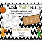 March Madness Math Brackets for Comparing Numbers - 4th Grade