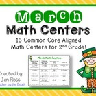 March Math Centers Menu {Common Core Aligned}