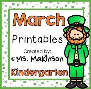 March Printable Packet - Kindergarten Literacy and Math