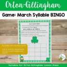 March Syllable BINGO