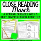 March Weekly Close Readings