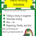 March Writing Activities (Aligned to CCSS)