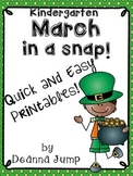 March in a Snap: No Prep Printables for Math and Literacy
