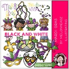 Mardi Gras Bundle by Melonheadz black and white