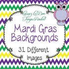 Mardi Gras Purple, Green, & Gold Backgrounds for PowerPoin