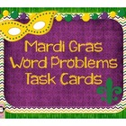 Mardi Gras Word Problems Task Cards
